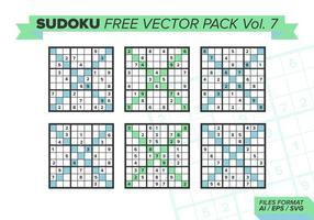 Sudoku pack vectoriel gratuit vol. 7