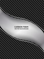 fond de courbe de fibre de carbone abstrait vecteur