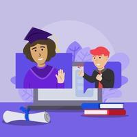 concept de graduation virtuelle vecteur