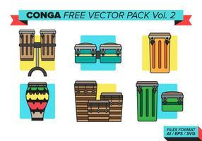Conga pack vectoriel gratuit vol. 2