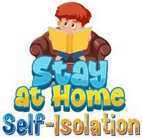 rester à la maison avec un garçon lisant