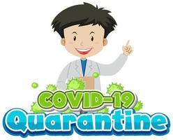 coronavirus avec heureux docteur souriant