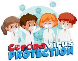 groupe de jeunes médecins combattant covid-19 vecteur