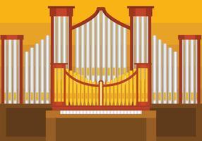 Illustration d'organe d'organe de pipe vecteur