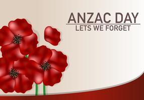 Anzac flower celebration background vecteur