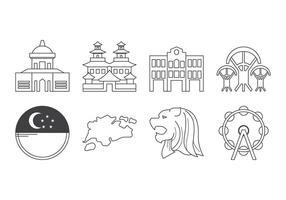 Icône de Singapour gratuite vecteur