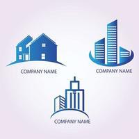 ensemble de logo immobilier vecteur