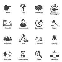 icônes de planification stratégique d'entreprise vecteur