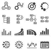 icônes infographiques affaires vecteur