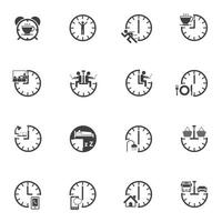 jeu d'icônes de temps vecteur