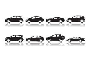 Vecteur de silhouette de voiture ford gratuit