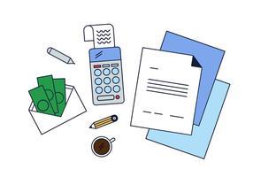 Vecteur gratuit d'entreprise et de comptabilité