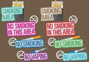 Titres de non-fumeurs vecteur