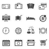 ensemble d'icônes de voyage touristique vecteur