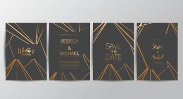 cartes d'invitation de mariage royal vecteur