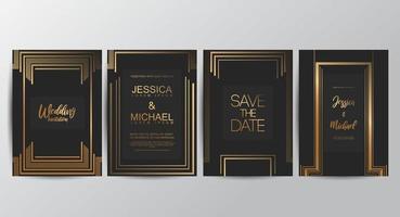 cartes luxueuses royales vecteur