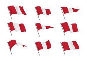 Vecteurs de drapeau du Pérou vecteur