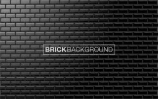 texture de brique noire vecteur