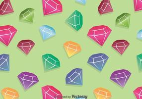 Fond coloré en diamant vecteur