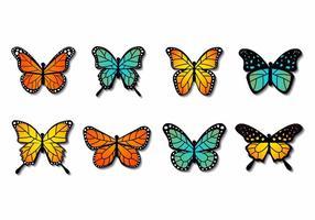 Vecteur papillon coloré gratuit