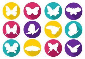Vecteur d'icônes papillon coloré gratuit