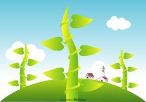 Paysage vectoriel Beanstalk gratuit