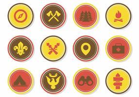 Vecteur Scout gratuit Badges
