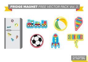 Aimant de réfrigérateur pack vectoriel gratuit vol. 3