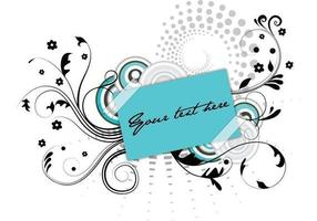 Tag Floral Swirly Vector
