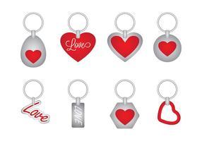 Vecteur porte-clés d'amour