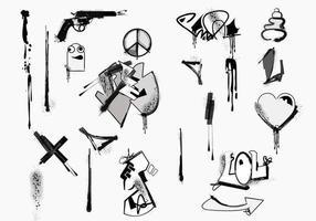 Pack d'éléments vectoriels graffiti vecteur