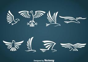 Vecteur symbole d'aigle blanc