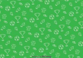 Motif vert de football vecteur