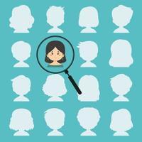 icône de recherche de personnes vecteur