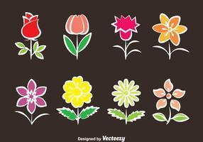Collection de fleurs Collection vecteur