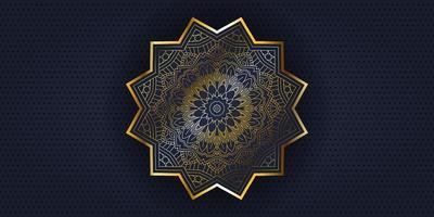 bannière de conception de mandala décoratif