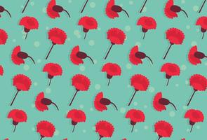 Motif de fleurs d'agneau vecteur
