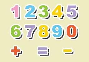 Vecteurs de nombre d'aimants de réfrigérateur