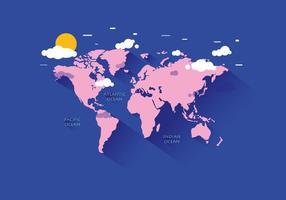 Vecteur de carte du monde
