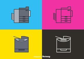 Icônes de vecteur de photocopie à ligne gratuite