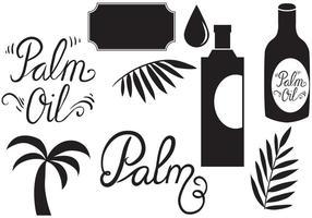 Vecteurs d'huile de palme gratuits vecteur