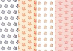 Vecteur motifs floraux mignons