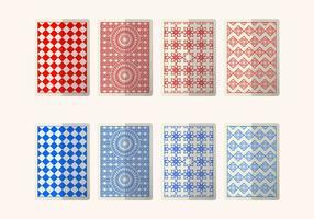 Carte rouge et bleu Retour