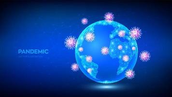 pandémie covid-19 faible polygonale vecteur