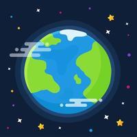 carte du monde avec des étoiles vecteur