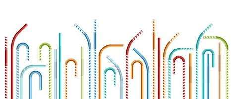 pailles colorées