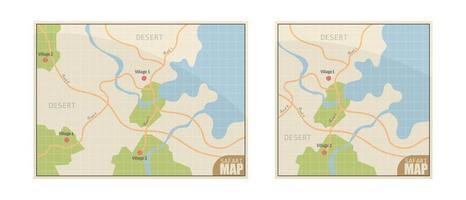 carte de safari sur blanc