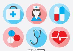 Ensemble d'icônes de docteur