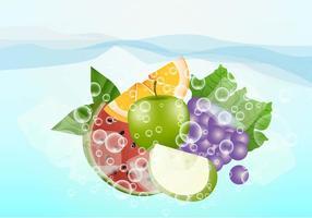 Fruits effervescents vecteur