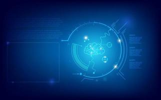 concept de technologie de cerveau numérique abstrait